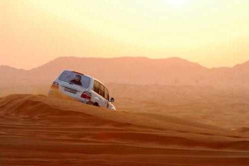 dykuma, 4wd, smėlis, saulėlydis, dubai, Arabas, nuokalnė, dykumos safari