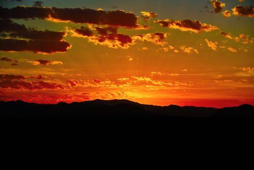 saulėtekis, dykuma, Arizona, kraštovaizdis, kalnai, gamta, dykumos saulėtekis 602