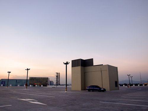 deserted alone parking
