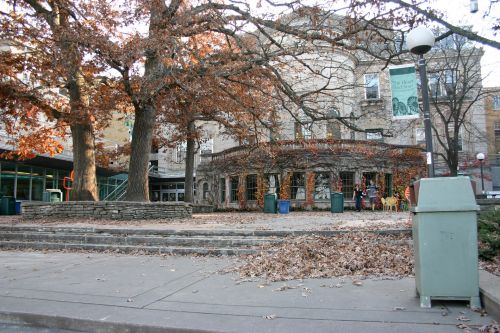 Deserted Terrace In Fall