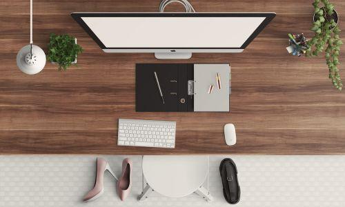 desk modern feminine