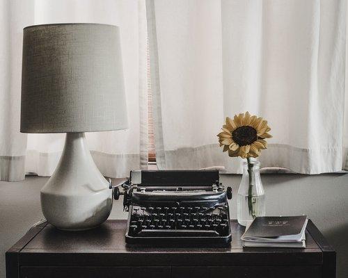 desk  typewriter  office
