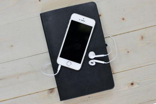 desk phone notebook