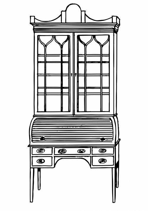 Desk Clipart Illustration
