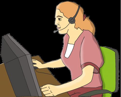 desktop secretary work
