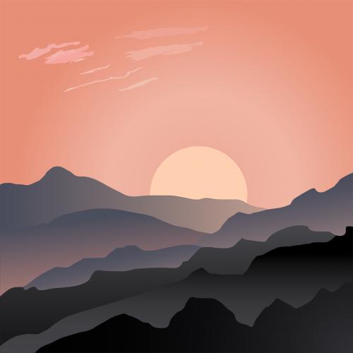 desolate,kraštovaizdis,kalnai,saulėtekis,saulėlydis,dykuma,nemokama vektorinė grafika