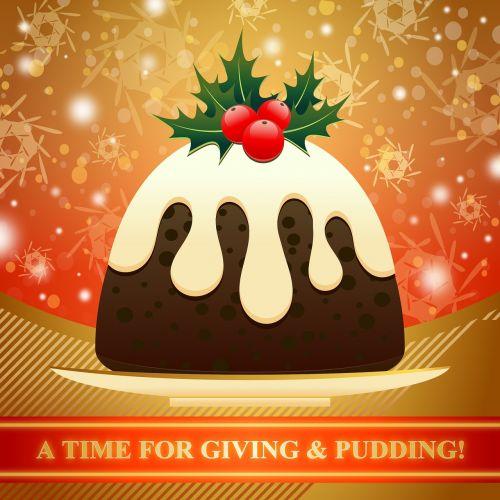 dessert christmas pudding xmas