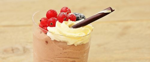dessert chocolate cream sweet dish