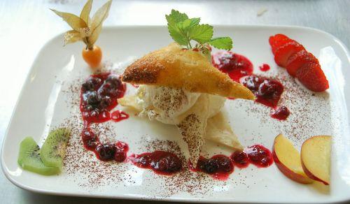 dessert parfait plate