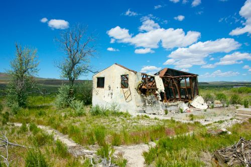 Destroyed Home In Great Plains