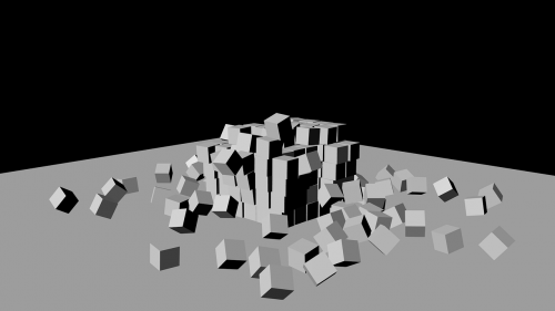 destruction cubes 3d