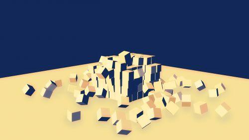 destruction cube 3d