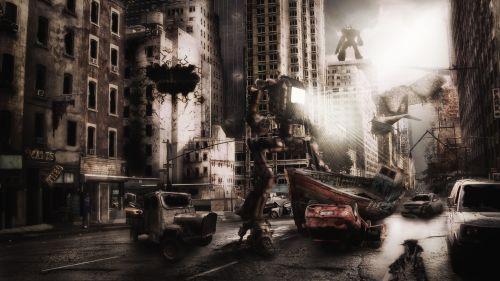 destruction dark cyborg