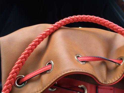 handbag cord leather