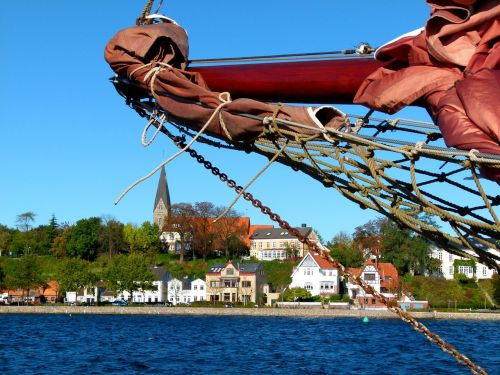 detail maritime sailing vessel