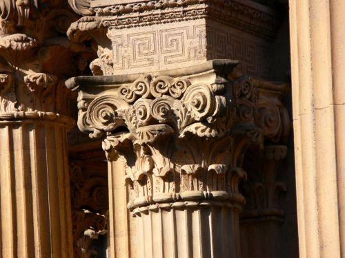 Detail Of Carved Pillars