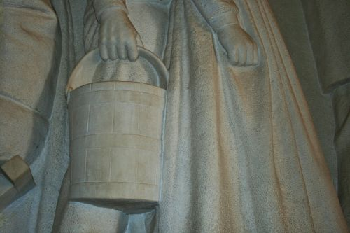 Detail Of Dress & Pail In Frieze