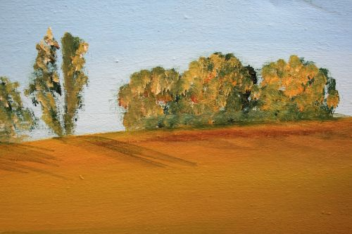 Detail Of Landscape Oil Painting