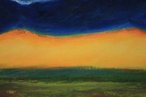 Detail Of Oil Painting, Sundown