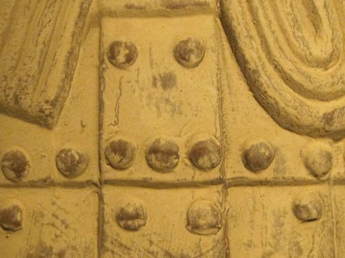Detail On Clay Warrior Armour