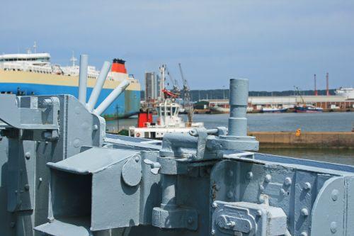 Detail On Deck Of Naval Cruiser