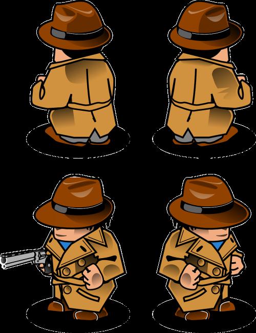 detective gun man