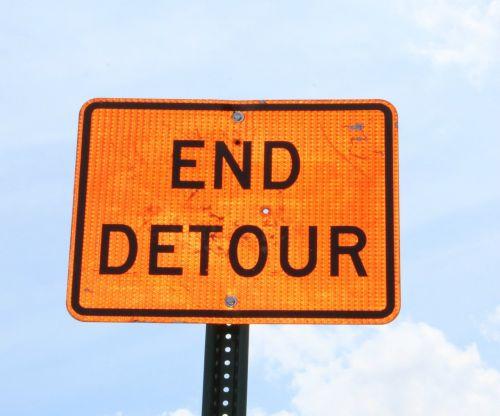 detour sign street