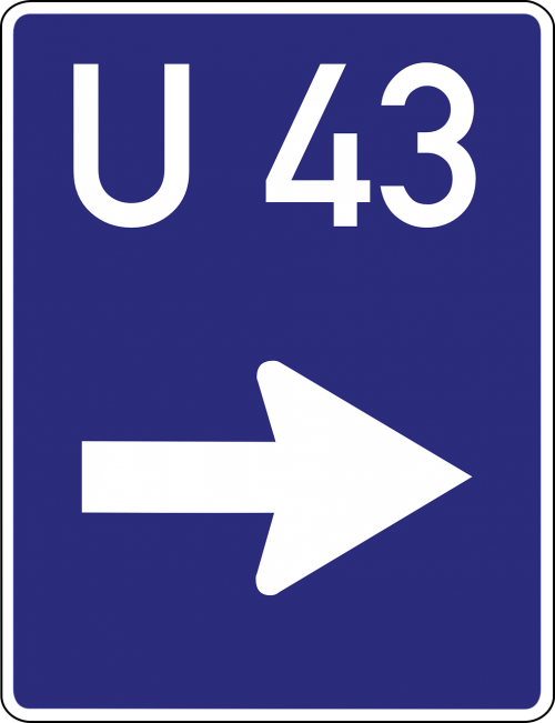 detour bypass road sign