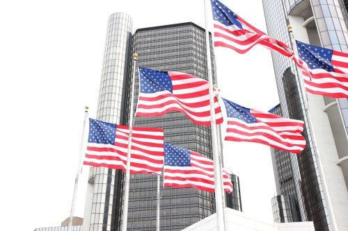 detroit american flag flags
