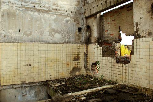 devastation building ruin