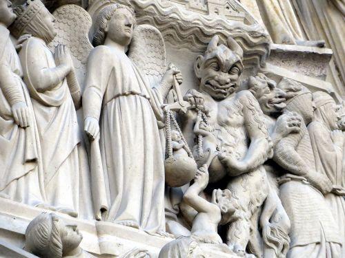devil archangel michael notre-dame