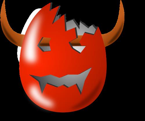 devil horns egg