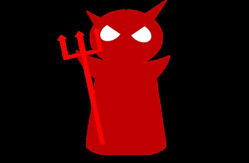 devil red pitch fork