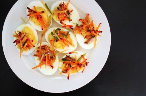 deviled eggs food chef