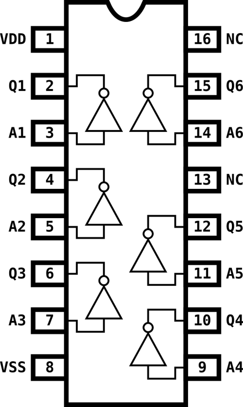 diagram pin electronics