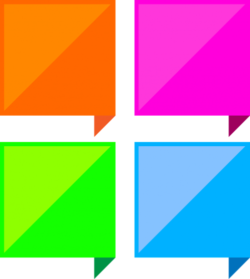 dialog boxes colorful square