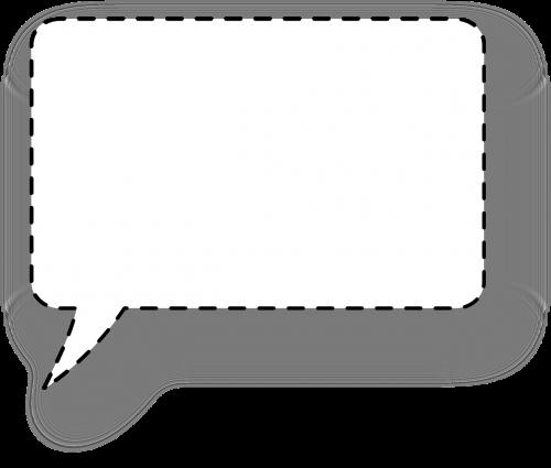 dialogue window bubble squared