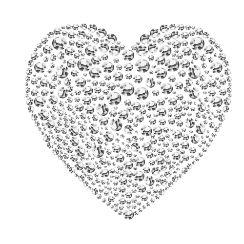 diamonds heart diamond-heart