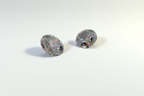diamond faceted diamond gemstone