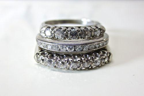 diamond platinum white