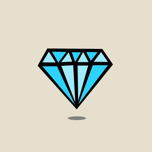 diamond diamond drawn gem