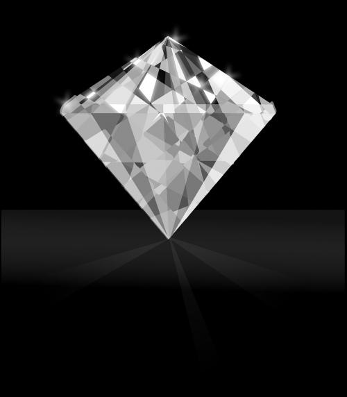 diamond gem white