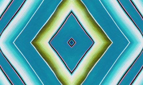 Diamond Shape Repeat In Greens