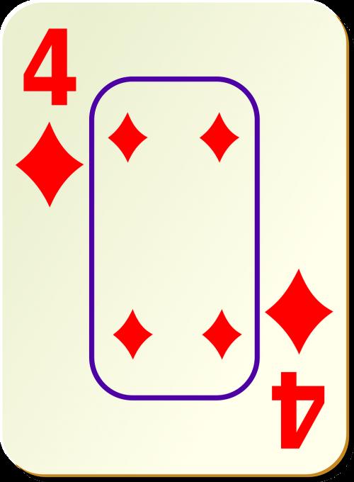 diamonds four 4