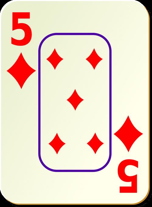 diamonds five 5