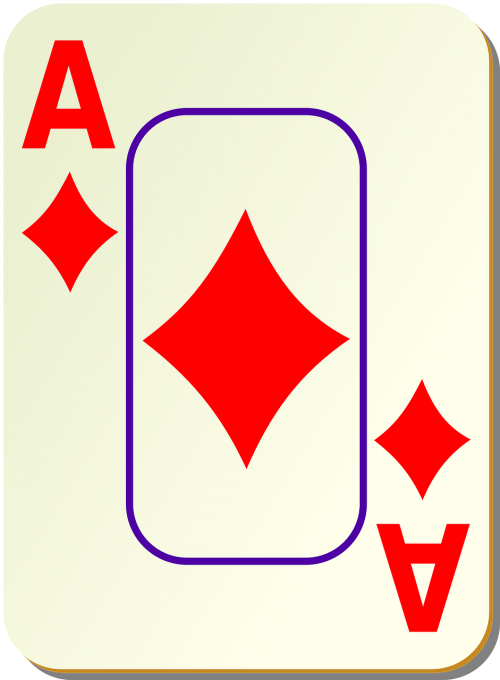 diamonds ace playing