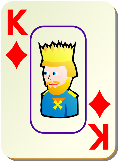 diamonds king playing