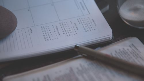 diary notebook calendars
