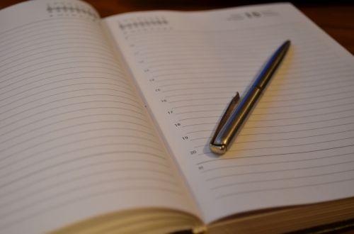 diary pen notebook