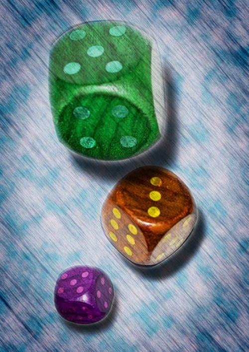 dice falling throw